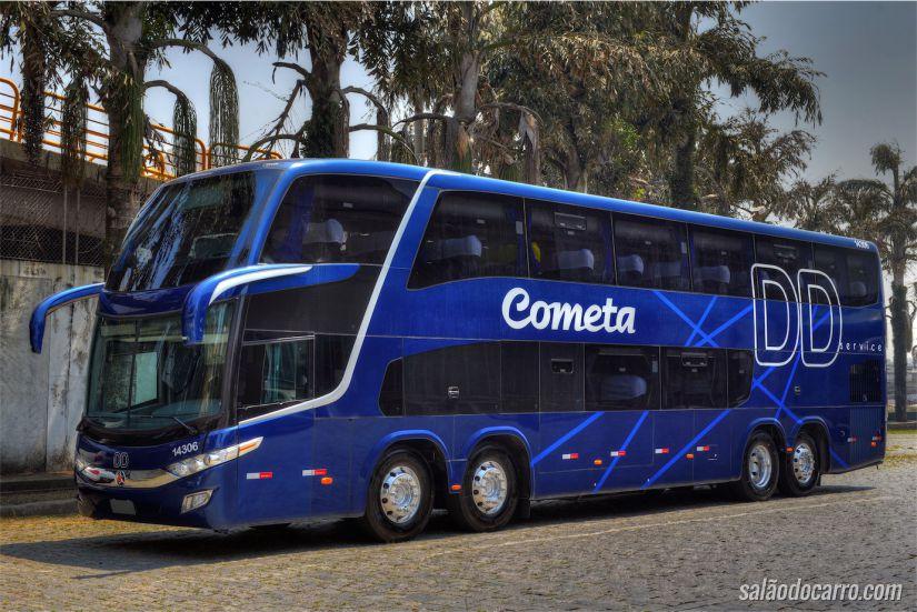 Visão do ônibus da viação Cometa