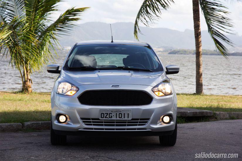 Grade frontal segue o padrão global da Ford