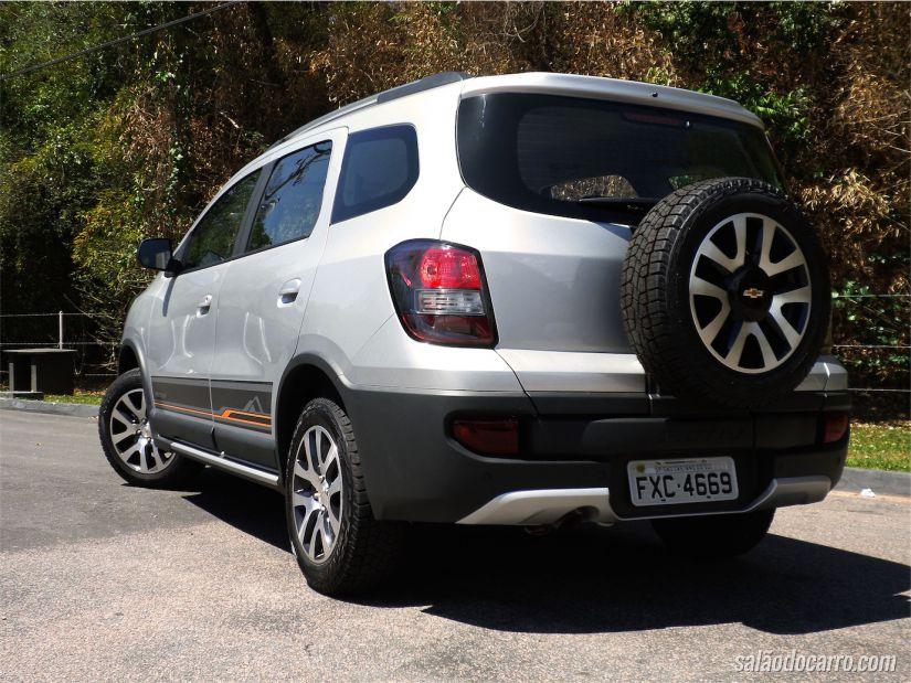 Versão 'aventureira' da Chevrolet Spin