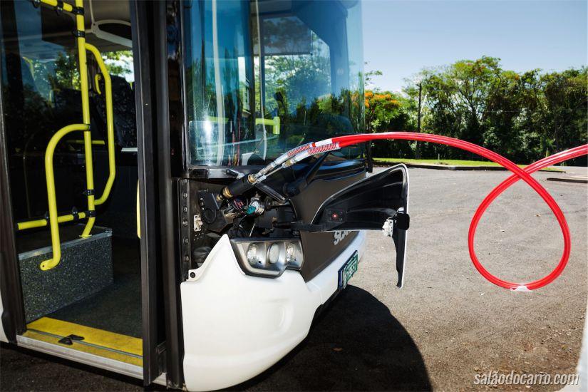 Abastecimento do ônibus