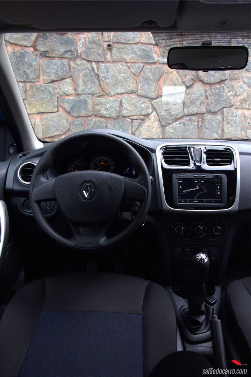 Interior do Renault Sandero Expression
