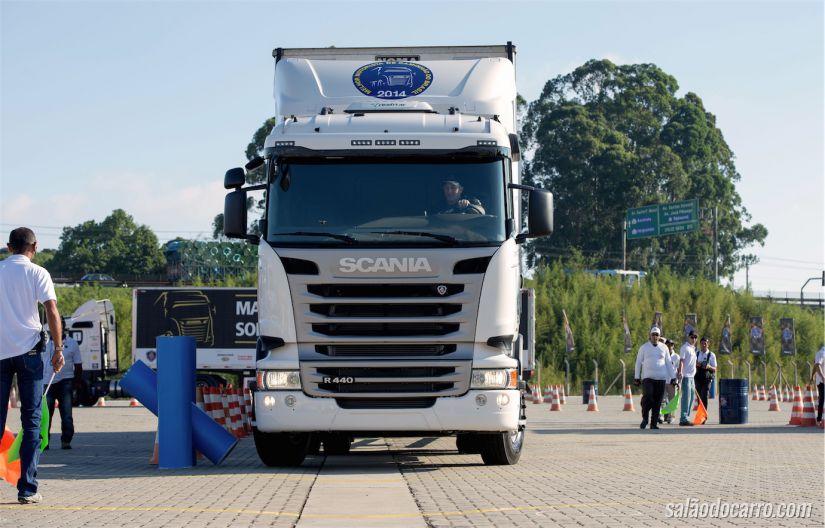 Caminhão durante a prova