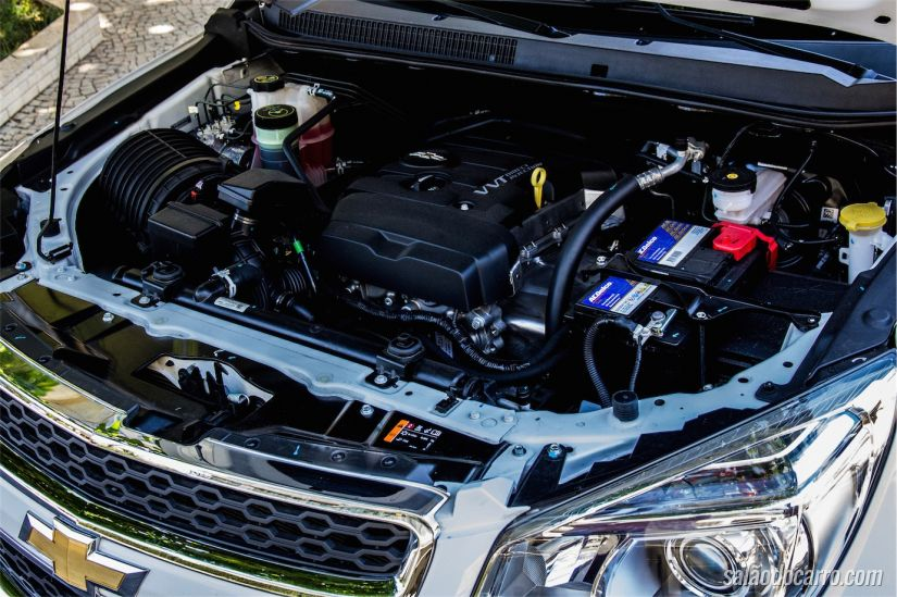 Motor 2.5 Flex que entrega 206cv com etanol
