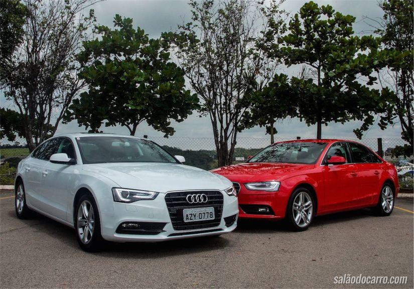 Lado a lado, o Audi A5 e Audi A4