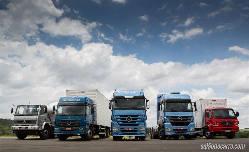 Caminhões Mercedes-Benz com sistema FleetBoard