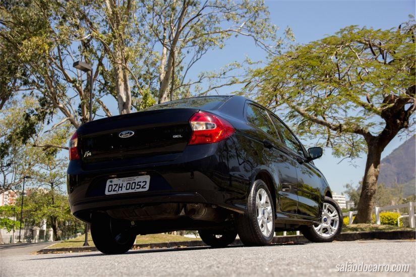 Visão da traseira do Novo Ford Ka+