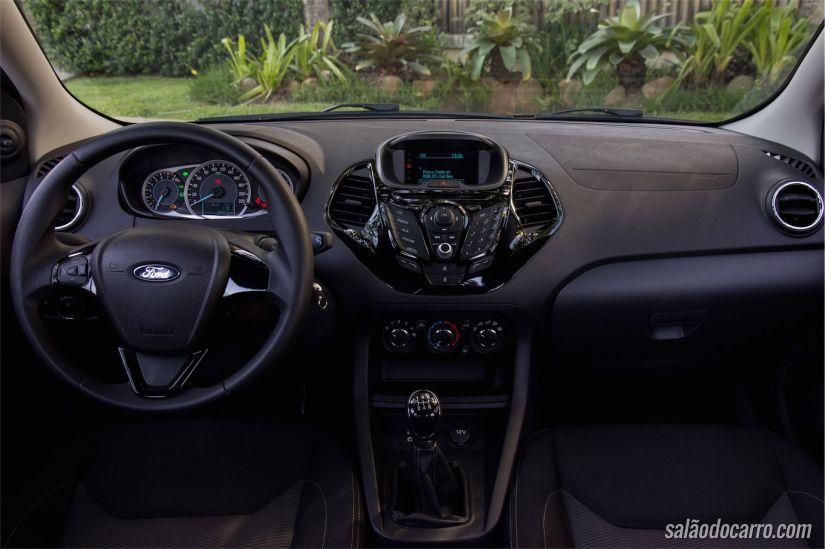 Interior do Ford Ka+