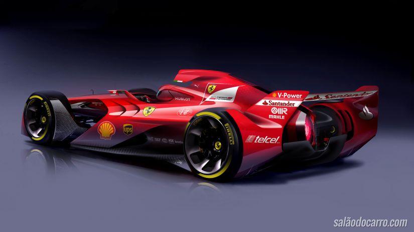 Ferrari anuncia protótipo futurista para F1