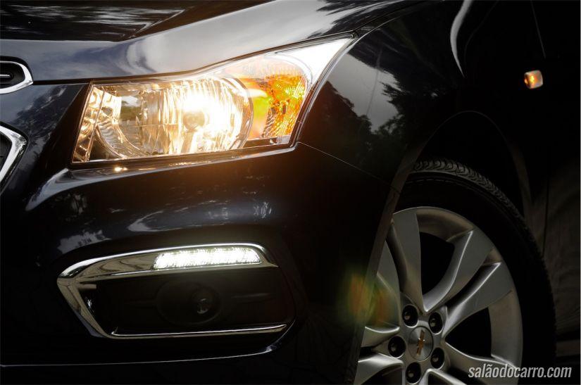 Detalhe da luz diurna de LED