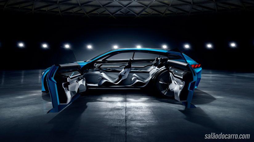 Instinct é carro conceito desenvolvido pela Peugeot e Samsung