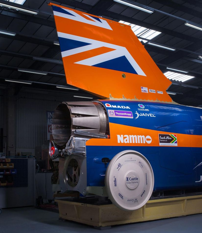 Carro começa testes para superar velocidade de 1.228 km/h