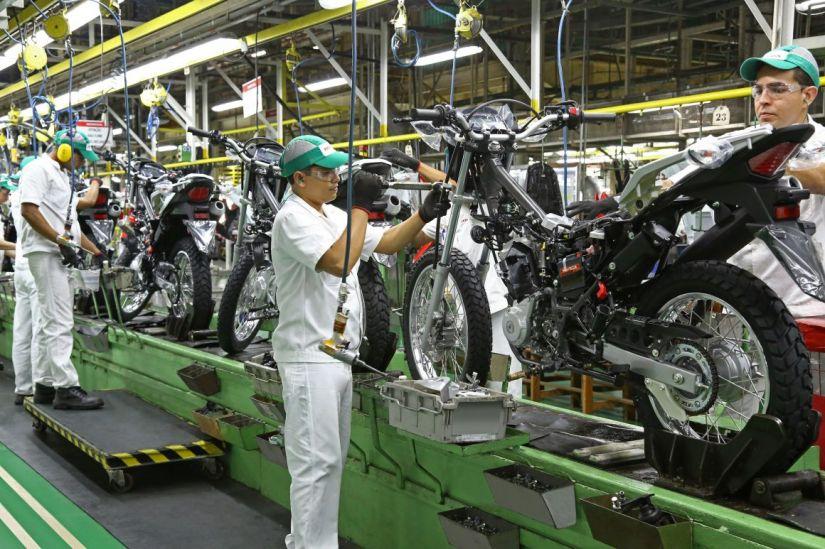 Produção de motos aumenta 24% no mercado brasileiro em fevereiro