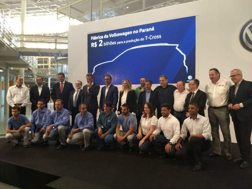 Volkswagen anuncia investimento de R$ 2 bilhões em unidade do Paraná
