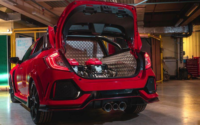 """Honda Civic Type R ganha versão """"picape"""" no Reino Unido"""