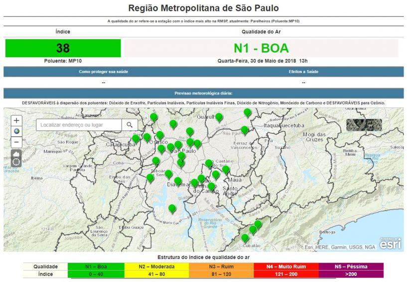 São Paulo registra redução de poluição pela metade durante greve dos caminhoneiros