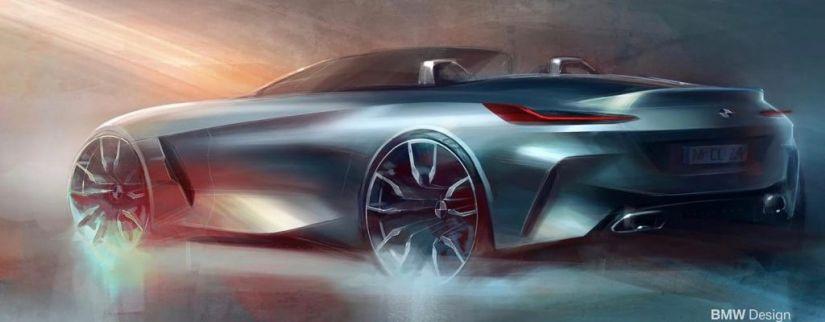BMW divulga teasers do Z4 2019