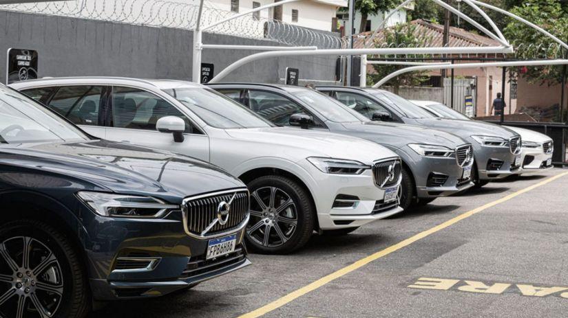 Volvo terá empréstimos de carros híbridos de graça no Brasil