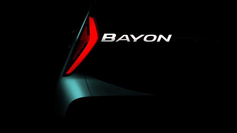 Hyundai divulga primeiro teaser do novo SUV Bayon