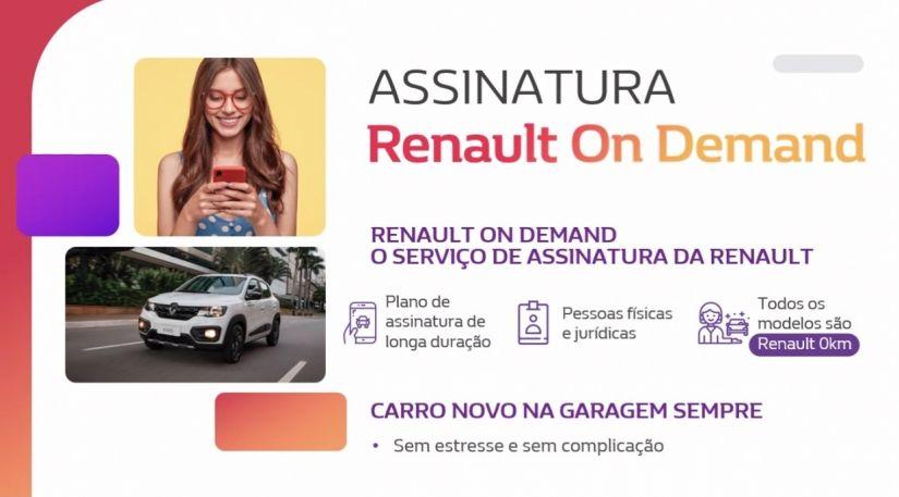 Renault lança serviço de carro por assinatura no Brasil