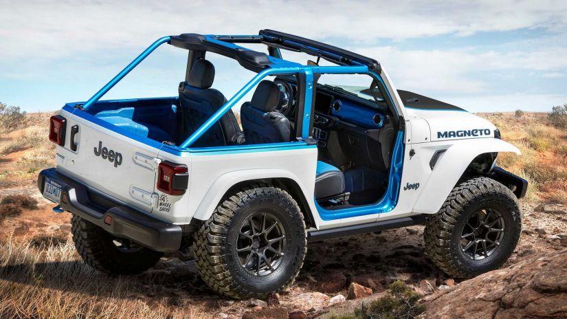 Jeep mostra conceito 100% elétrico com Wrangler com 285 cv de potência