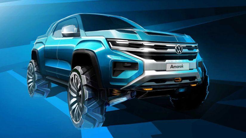 Volkswagen libera imagem inédita da nova geração da Amarok