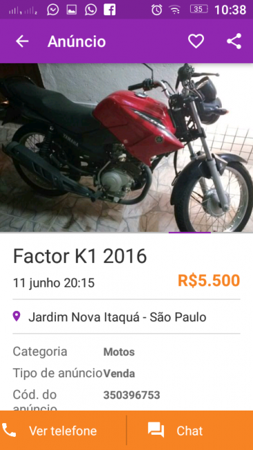 Yamaha YBR 125 Factor K1 - Foto #1