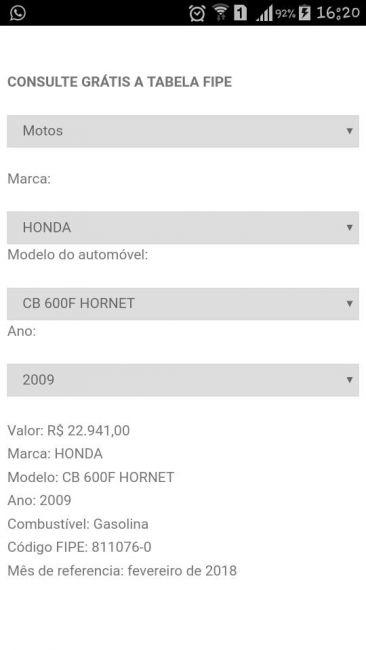 Honda CB 600 F Hornet - Foto #8